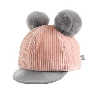 Cappello modello baseball con pompon ido ROSA-2715
