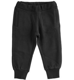 Pratico pantalone in felpa garzata ido NERO-0658