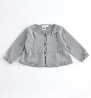 Elegante cardigan in tricot lurex ido GRIGIO-ARGENTO-8445