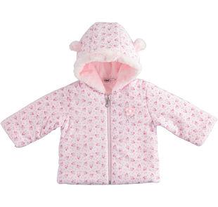 Giubbotto neonata in felpina imbottita fantasia fiorellini ido ROSA-ROSA-6LE1