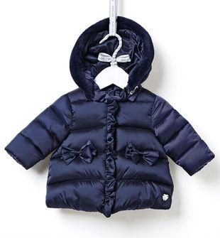 Giubbotto neonata in tessuto termico imbottito con cappuccio staccabile ido NAVY-3854