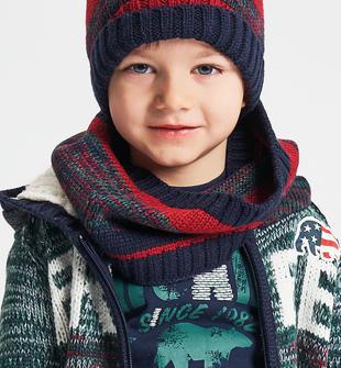 Collo in tricot effetto riga vanisé ido BLU-ROSSO-8031