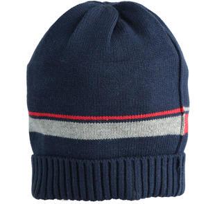 Cappello modello cuffia con inserti grigio e rosso ido NAVY-3885