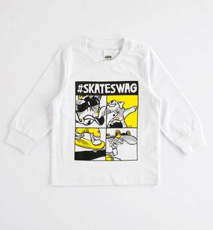 Simpatica maglietta 100% cotone ido BIANCO-0113
