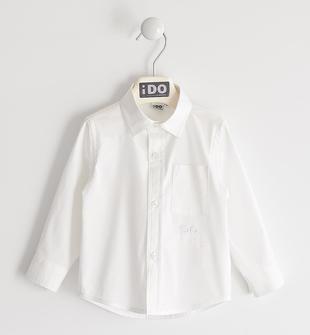Elegante e comodissima camicia in popeline di cotone ido BIANCO-0113