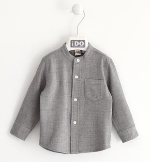 Camicia coreana in tessuto invernale lavorazione jacquard ido GRIGIO-0516