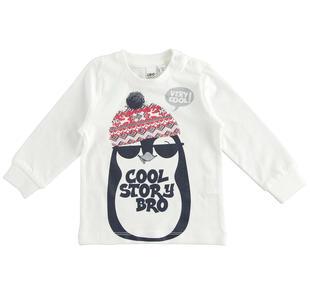Maglietta 100% cotone con pinguino ido PANNA-0112