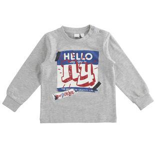 Maglietta in jersey cotone dedicata al mondo dello skate ido GRIGIO MELANGE-8992