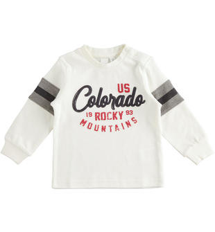 Maglietta 100% cotone con stampe ido PANNA-0112