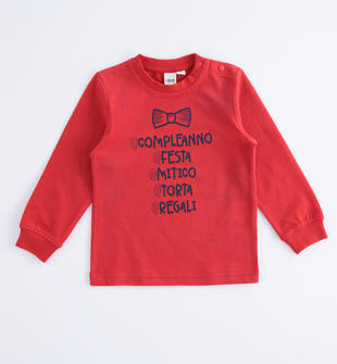 Maglietta 100% cotone perfetta come idea regalo compleanno ido ROSSO-2253