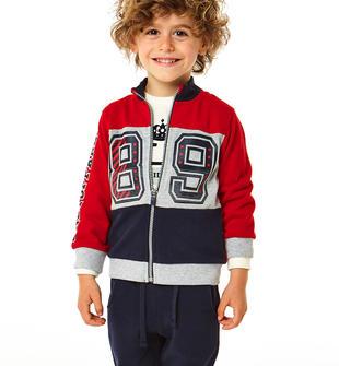 Comoda tuta jogging bimbo in jersey misto cotone ido ROSSO-BLU-8010