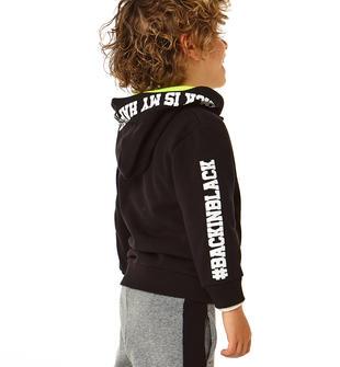 Tuta jogging in felpa garzata con felpa con cappuccio ido