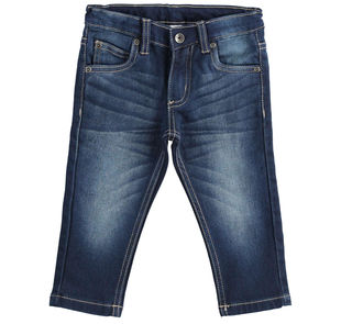 Pantalone in denim effetto felpa ido SOVRATINTO BEIGE-7180