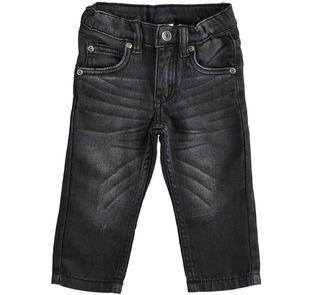 Pantalone in denim effetto felpa ido NERO-7990