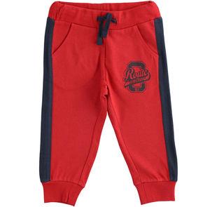 Pantalone in jersey pesante con polsini ido ROSSO-2253