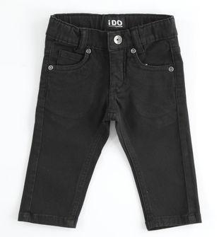 Pantalone in twill di cotone slim fit ido NERO-0658