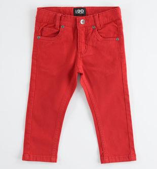 Pantalone in twill di cotone slim fit ido ROSSO-2253