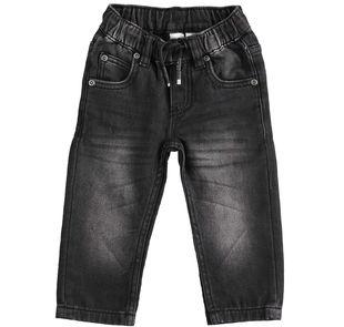 Pantalone in denim effetto maglia ido NERO-7990