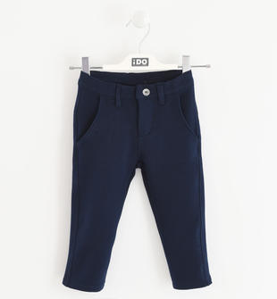 Elegante pantalone modello chino in felpa ido NAVY-3885