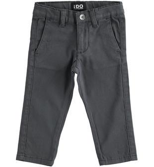 Classico pantalone in twill ido GRIGIO-0567