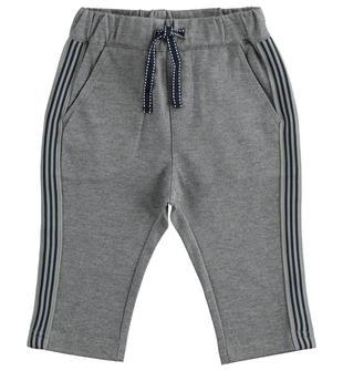 Pantalone carrot fit in maglia effetto twill ido GRIGIO MELANGE-8970