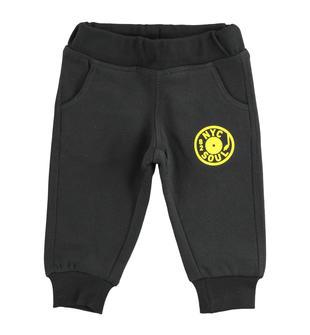 Pantalone con stampe realizzato in felpa invernale ido NERO-0658