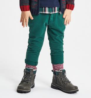 Pantalone in felpa più pesante vestibilità regular ido VERDE-4726