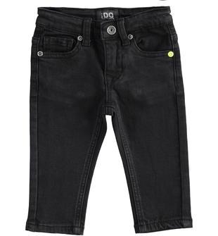 Pantalone effetto denim con garzatura interna ido NERO-0658