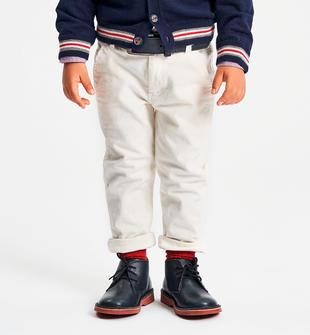 Pantalone in velluto a coste ido PANNA-0112