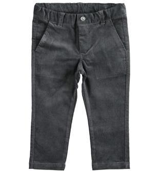 Pantalone in velluto a coste ido GRIGIO-0567