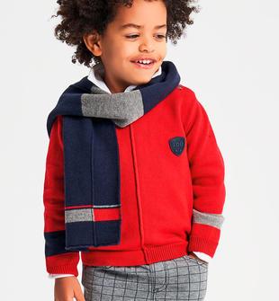 Girocollo in tricot con bande bicolore ido ROSSO-2253