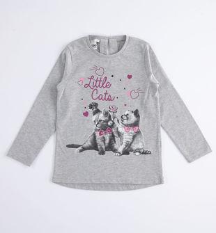 Maglietta girocollo Little Cats ido GRIGIO MELANGE-8992