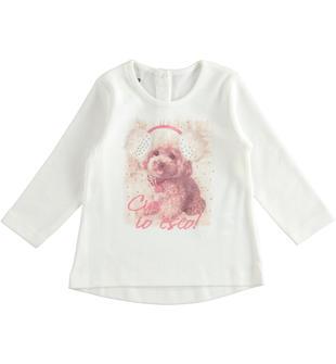 Maxi under 100% cotone con dolcissimo cagnolino ido PANNA-0112