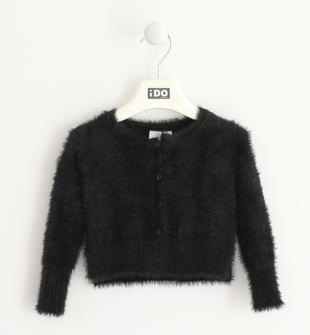 Giacca modello rebecchina da bambina in tricot ido NERO-0658