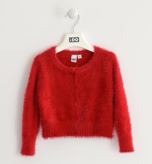 Giacca modello rebecchina da bambina in tricot ido ROSSO-2253