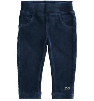 Pantalone in ciniglia effetto velluto ido NAVY-3854