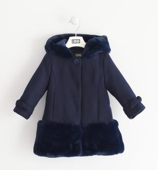 Bellissimo e di grande tendenza cappottino bambina misto lana ido NAVY-3854