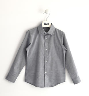 Camicia 100% cotone lavorata jacquard ido GRIGIO-0516