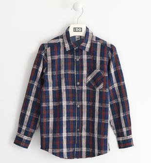 Camicia fantasia scozzese 100% cotone ido ROSSO-2536