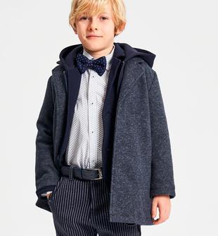 Elegante cappotto bambino in caldo tessuto stretch ido NAVY-3885
