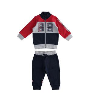 Comoda tuta jogging bimbo in jersey 100% cotone ido ROSSO-BLU-8010