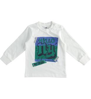 Maglietta in jersey cotone dedicata al mondo dello skate 100% cotone ido PANNA-0112