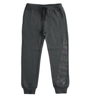 Pantalone in felpa garzata con particolari ferma coulisse 100% cotone ido GRIGIO-0567