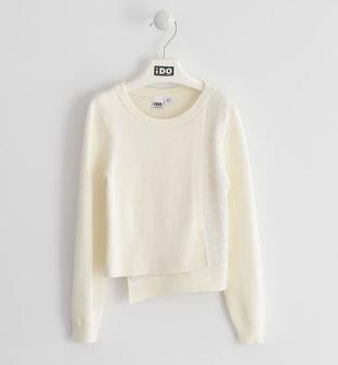 Elegante tricot con applicazione di paillettes ido PANNA-0112