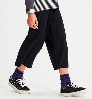 Pantalone in cotone modello gaucho ido NERO-0658