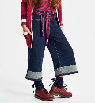 Pantalone denim bambina modello palazzo ido NAVY-7775