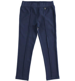 Leggings in punto milano garzati internamente ido NAVY-3854