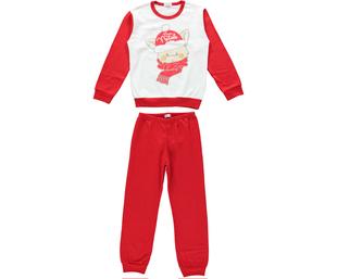Pigiama Buon Natale 100% cotone per bambina ido ARANCIO-2133