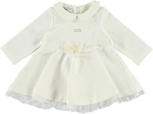 Vestitino neonata bianco a manica lunga ido PANNA - 0112