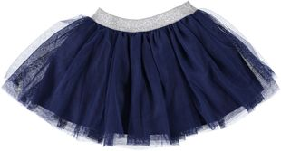 Gonna in tulle tinta unita con elastico in vita ido NAVY - 3557